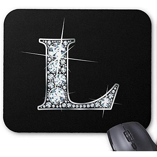 Mausepad L Diamond Bling Print Mousepad Personalisierte Gaming-Mausmatte Rutschfeste Gummi-Schulspielmatte 25X30Cm -