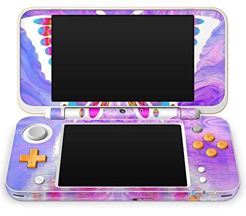 Skins4u Nintendo NEW 2DS XL Skin Aufkleber Design Schutzfolie Colorful Butterfly