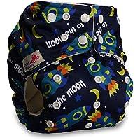 LittleBloom Bebé Pañales Lavables Pañal Reutilizable BAMBÚ, Cierre: POPPER