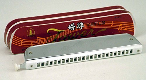 Tower Mouth Organ With Change Lever- Chromatic Harmonica  available at amazon for Rs.480