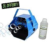 Seifenblasenmaschine 25W blau Ibiza Light ETRIER + Zusatzartikel + 3Liter Flüssigkeit