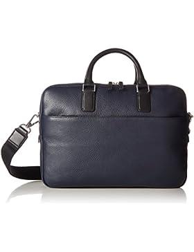 Ecco Herren Jos Laptop Bag Tasche, Blau (Navy), 7 x 27 x 37 cm