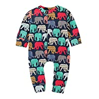 Boys Rompers, SHOBDW Newborn Baby Kids Girls Cartoon Elephant Long Sleeve Autumnal Winter Jumpsuit Cloth Pajamas Outfits