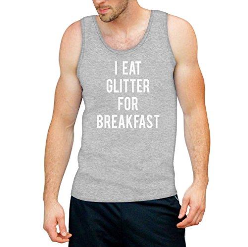 I Eat Glitter For Breakfast Tank Top - Witzige Mode Grau