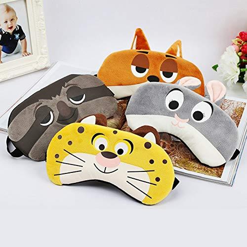 e sleep masks cotton eye masks Blindfold For Sleep Sleeping Mask Case Eye Mask Cute Bunny/Tiger/Fox/Sloth ()