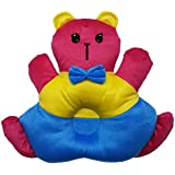 GoodStart Teddy Shape Baby Sleeping Pillow In Red, Yellow And Blue Color