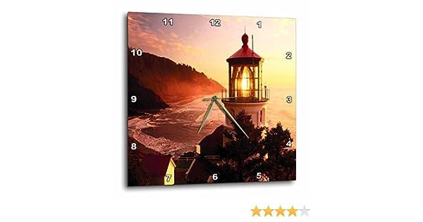 13-inch 3dRose Lighthouse at Devils Elbow Park Oregon-Wall Clock DPP/_57611/_2