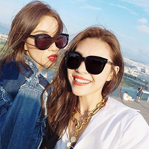 Seien Sie nur teilweise auf die Sonne Spiegel weibliche Flut quadratischen Gesicht Korean die Persönlichkeit Dame Sonnenbrille Stil der runden Gesichtsbrille weiblich