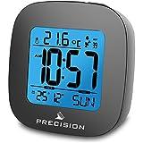 Precision Radio Controlled LCD Backlit Alarm Date Temperature Clock