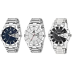 Espoir Day and Date Combo of 3 Analogue Multicolor Dial Men's Watch - Combo Latest WDD Andy