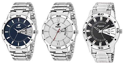 Espoir Day and Date Combo of 3 Analogue Multicolor Dial Men's Watch – Combo Latest WDD Andy