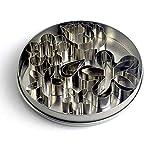 KAISHANE - Juego de 16 moldes para galletas con forma de lágrima de pétalos de rosa, para manualidades, utensilios de cocina
