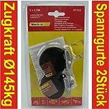 Spanngurt 2er Set 2,5cmx2,5m 80kg Zurrgurt Gepäckgurt