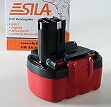 Sila Profi-Akku (112) Werkzeugakku, Ersatzakku für Bosch GSR 14.4 - 14,4 Volt - 2000mAh - Ni-MH - Bauähnlich: 2607335490 / 2607335521 / 2607335522 / 2607335528 / 2607335533 / 2607335534