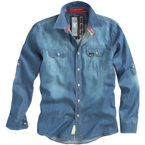 Surplus Raw Vaqueros Vintage Camiseta Azul Oscuro - algodón, Azul Oscuro, 100% algodón 100% algodón\nmassangaben, hombre, M