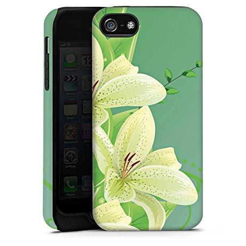 Apple iPhone X Silikon Hülle Case Schutzhülle Lilie Blume Lilly Tough Case matt