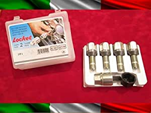 For Alfa Giulia dal 06.2016 Kit Bulloni Antifurto Flower Lock Farad Cerchi Lega