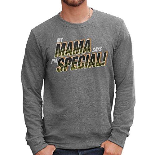 Sweatshirt My Mama Says I M Special - LUSTIG by Mush Dress Your Style - Herren-XL-Grau (Halloween Lego Special)