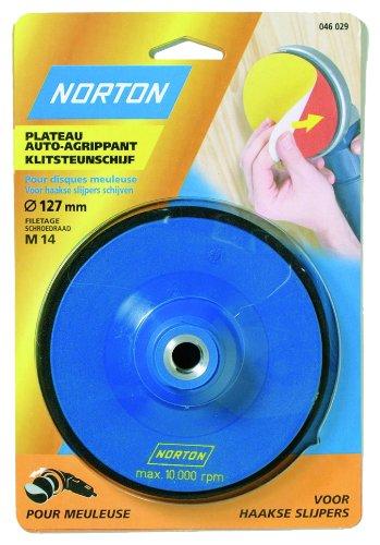 Norton 115 mm de di/ámetro, varios granulados Kit de 1 plato y 5 discos para Avos