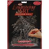 Royal & Langnickel COPF16 - Engraving Art/Kratzbilder in Kupfer Din A4 - Giraffe & Baby