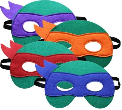 Teenage Mutant Ninja Turtle Maske Leonardo, Michelangelo, Raphael, -