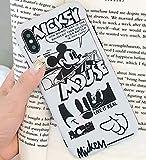 Art-design Custodia per iPhone 7+ Plus/iPhone 8+ Plus Mickey Minnie Mouse Retro Effetto Bianco Cover Caso Silicone