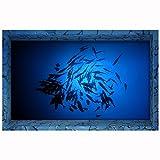 Bluelover Pag 3D Bad Anti Slip Seefisch Muster Wasserdichte Boden Aufkleber Waschbar Dusche Zimmer Dekoration