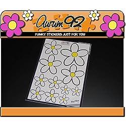 Aurum92 New Classic Blanco Daisy Coche Pegatinas
