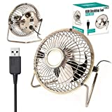 Twitfish Art Déco de Cru de Bureau USB Ventilateur / Fan - 4''