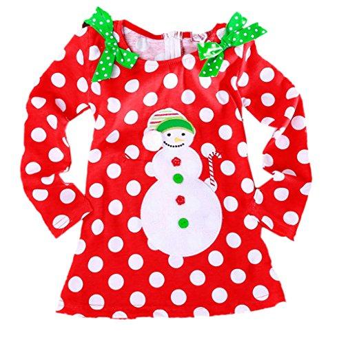 Scothen Bambin Enfants Cerf Rayé Princesse Bébé Robe De Filles Tenues De Noël Robes Enfants Bébé Filles En Bas Âge De Noël Tenues Vêtements 3