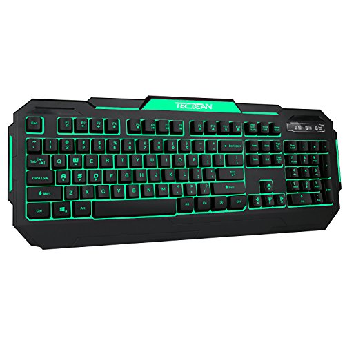 TEC.BEAN 7 colori retroilluminato Gaming Keyboard USB Wired - UK Layout