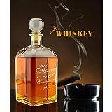 Geschenkartikel Whiskykaraffe mit Gravur Emblem Genießer Seit Whisky Flasche Deko YD 2-023-6