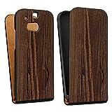 DeinDesign HTC One M8s Tasche Hülle Flip Case Holz Erscheinungsbild Maserung