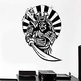 Wand Aufkleber Samurai Japan Krieger Schwert Ninja Rüstung Osten Vinyl Aufkleber 56X78Cm