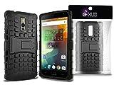 G-HUB® - Rugged Tough Case für OnePlus 2 SmartPhone - HEAVY DUTY Military-Stil Schutzhülle - Rückseitige Abdeckung Schutz mit Front & Side Protection und Einbau Schrank PropUp Stand - SCHWARZ