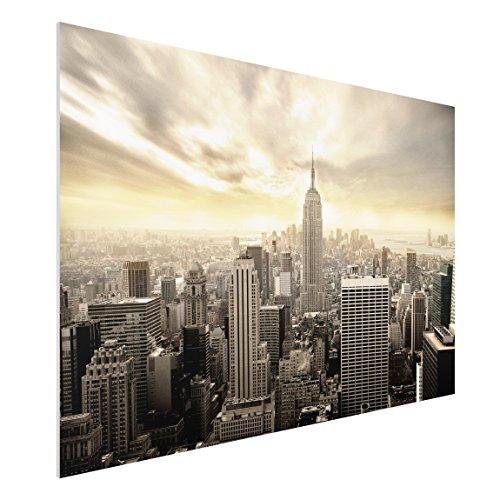 75 Fine Art Prints (FOREX Fine Art Print-Wandbild Manhattan Dawn-breit 2: 3, Maße HxB: 80cm x 120cm)