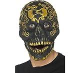 Smiffys Masque de bal masqué Deluxe tête de mort, Or, Mousse latex