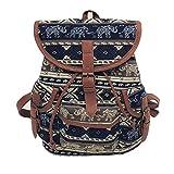 Rucksack, HUIHUI Vintage Leinwand Backpack Schultertaschen Wasserdicht Reiserucksack Outdoor Wanderrucksacke Rucksack Schultasche Mode 2018 verrückter Verkauf (D)