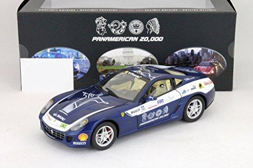 Ferrari 599 GTB Fiorano Panamerican 2006 blau 1:18 HotWheels Elite