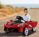 Questa macchina elettrica modello sportivo realizzerà il sogno di ogni bambino di avere un'auto. È un giocattolo sicuro e divertente, completo di cintura di sicurezza, luci, suoni e attacco Mp3. Descrizione:   • Adatto ai bambini di età comp...