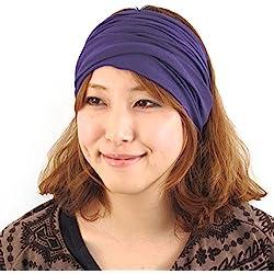 Casualbox Hombre Cabeza Tapa Banda Bandana Tramo Cabello Estilo Japonés Púrpura