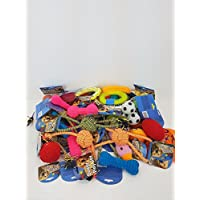 BULK PACK ASSORTED PET DOG SQUEAKY CHEW ROPE BALL RUBBER FETCH TOYS[7]