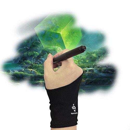 GAOMON Zwei-Finger Lycra Handschuh für Grafiktablett / Leuchttisch / Pen Display - Freie Größe
