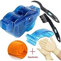 Fahrrad Kettenreinigungsgerät T-wilker Reinigung Scrubber Pinsel-Werkzeug im Set mit Ritzelbürste ,Schnelles sauberes Werkzeug für Alle Arten von Fahrrad Kettenreinigung (1 Paar Latexhandschuhe+1 Reinigungstuch)