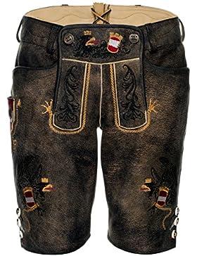 Michaelax-Fashion-Trade Spieth & Wensky - Herren Trachten Lederhose mit Gürtel, Faustria (290710-0886)