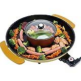 Pot Electric Barbecue Grill And Hot Circular Multifunctional Smoke-Free Baking Pan Portable Adjustable Temperature