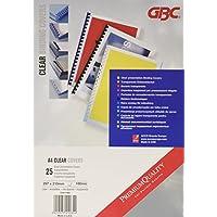 GBC CN011880 Hiclear Copertine per Rilegatura A4, PVC 180 Mic, Confezione da 25, Trasparente -  Confronta prezzi e modelli