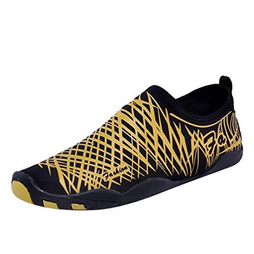Yiiquan Unisexe Chaussures Aquatiques Respirant Séchage Rapide Chaussons de Plage Eté Antidérapant