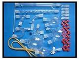 Gowe Organische Chemie Labor Glaswaren Kit, lab Glaswaren Kit (Borosilikatglas 3.3)