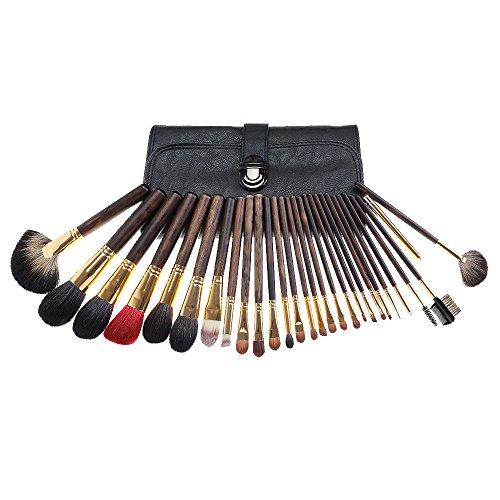 nylon chatoyante haut de gamme cheveux 28 pcs pinceaux de maquillage pour le contour de fondation eye-liner des sourcils à lèvres